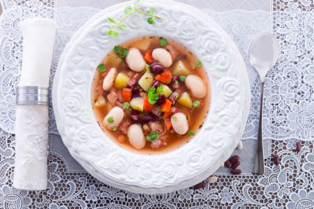 beans soup Stock Photo - 18280333