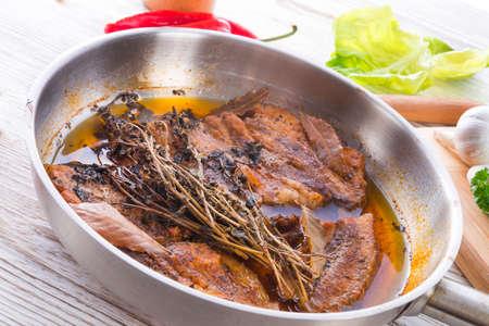 Spicy belly pork Stock Photo - 18316555