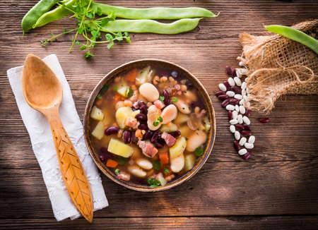 beans soup Stock Photo - 18336888