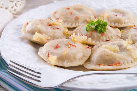 pierogi with meat Stok Fotoğraf