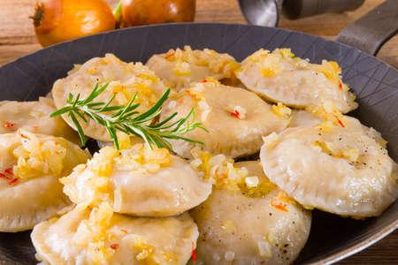 pierogi with meat Reklamní fotografie