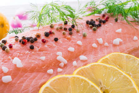 salmon raw Stock Photo - 18902064