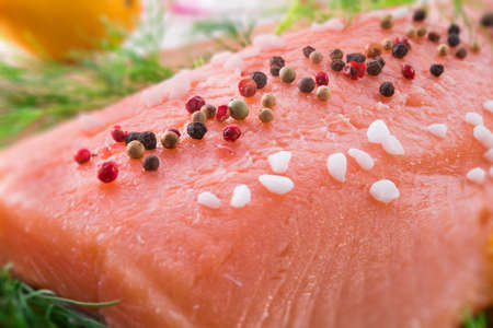 salmon raw Stock Photo - 18914733