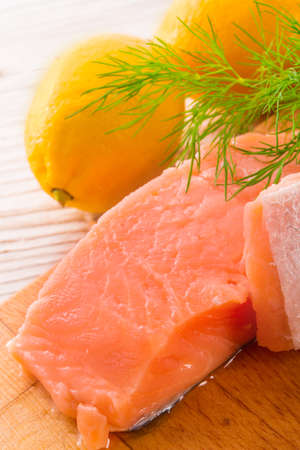 salmon raw Stock Photo - 18914744