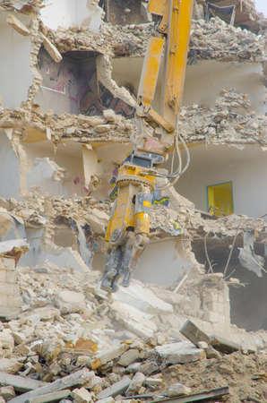 block of flats: Block of flats demolition