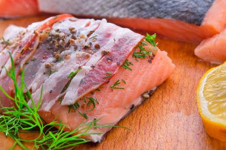 Salmon in the bacon coat photo