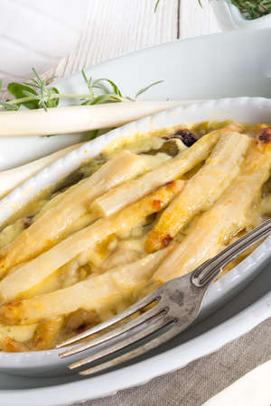 Asparagus leek casserole  photo