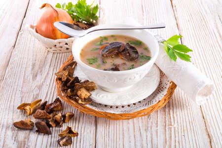 stone mushroom soup photo