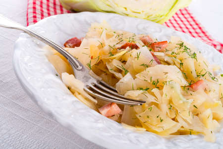 tasty braised cabbage vegetables photo