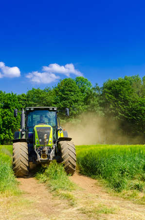 baler: Tractor with baler