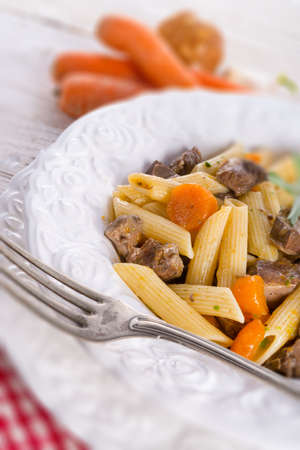 substantial: penne with goulash