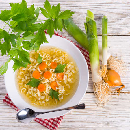 Noodle soup photo