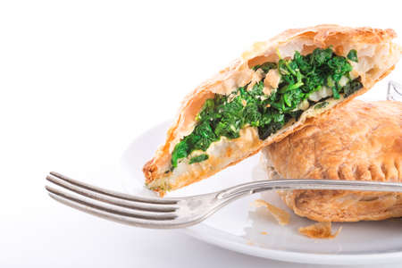 spinage: Spinach puff pastry  Stock Photo