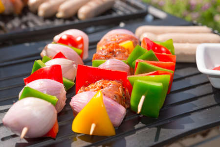 charcoal grill: summer grill party