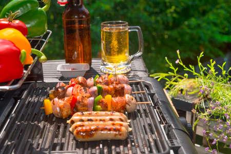 grill fête d'été Banque d'images