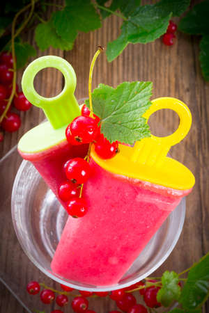 Homemade currant water ice  photo