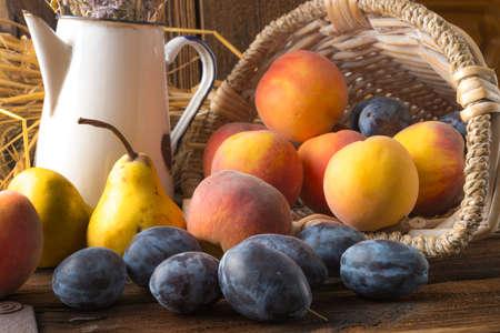 nectarine: fresh fruits