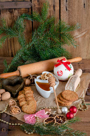 Christmas little places oatmeal photo