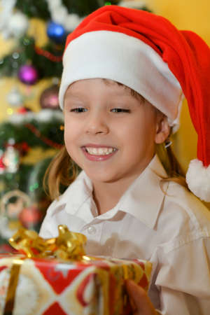 small girls with presents Stock Photo - 25143412
