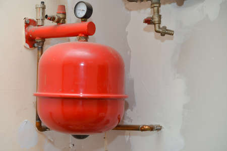 old heating installation photo