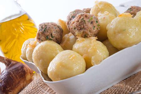 well laid: dumplings with meatball