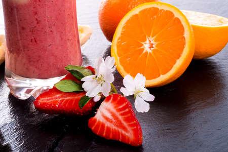 licuado de platano: Strawberry Banana smoothie