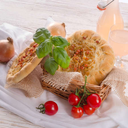 Onion tart and Federweisser(Nouveau) photo