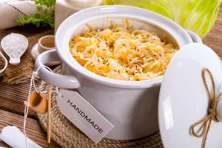 homemade sauerkraut