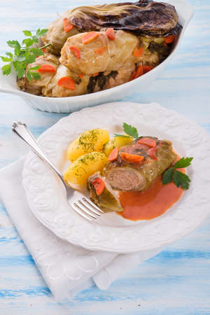 baked cabbage rolls photo