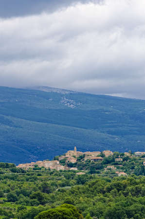 vaucluse: village in provence Stock Photo