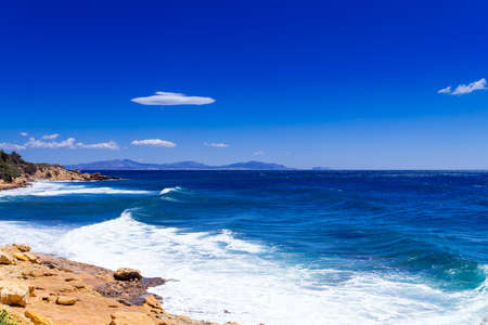 azur: Cote d Azur beach Stock Photo