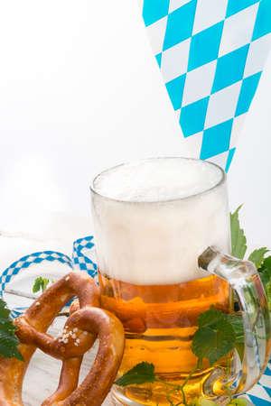 bier festival: Bavarian beer Stock Photo