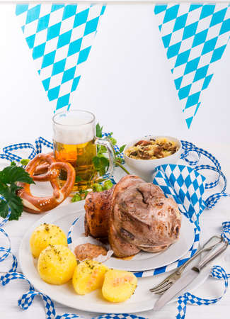 Schweinshaxe - pork knuckle on Bavarian photo