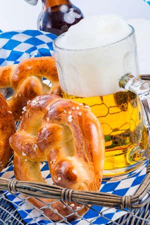 bier festival: homemade pretzels and bavarian beer