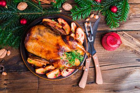 apple christmas: Christmas duck
