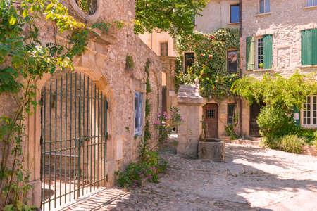 mediterranean houses: Old town in provence Stock Photo