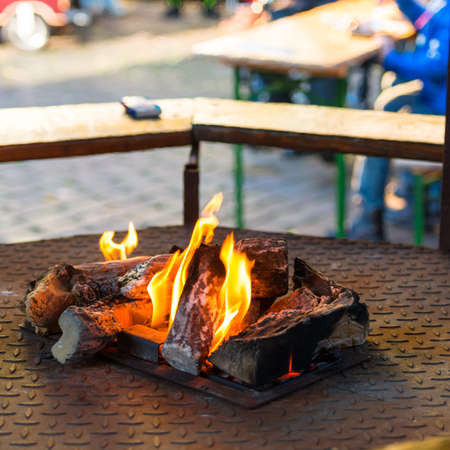 weekly market: Fire pit on the weekly market
