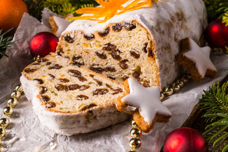 stollen: Christmas Stollen with orange julienne