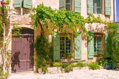 Old town in provence Stock Photo