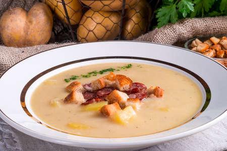 potato soup: Potato soup Stock Photo