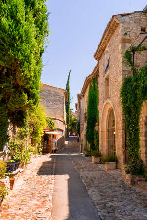 palais: Old town in provence Stock Photo