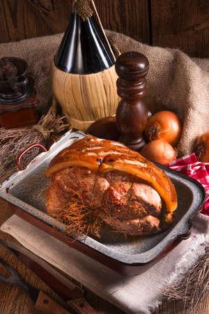 crackling: pork roast with crackling