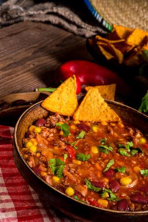 mexican food: Chili con Carne Stock Photo