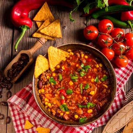 chilli: Chili con Carne Stock Photo