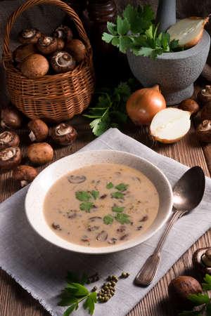 creamy: Creamy Mushroom Soup