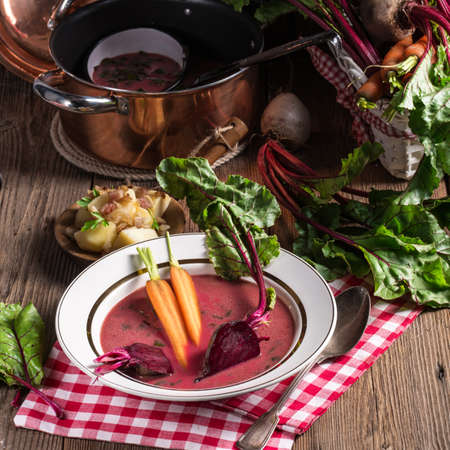 Botwinka Soup of young beet leaves