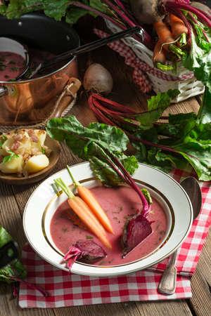 Botwinka - Soup of young beet leaves Zdjęcie Seryjne