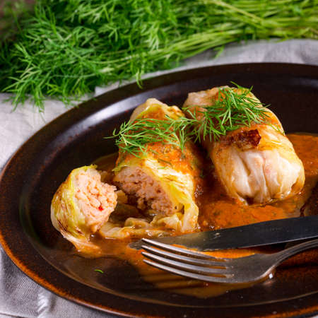 Cabbage rolls out young cabbage