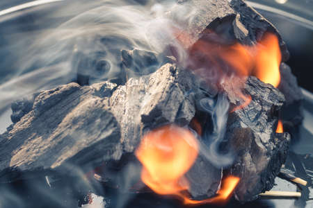 Burning Charcoal Reklamní fotografie
