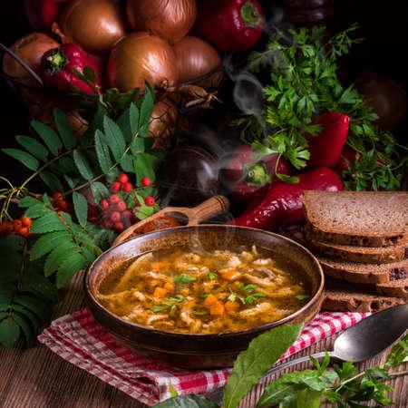 chitterlings: polish beef tripe soup